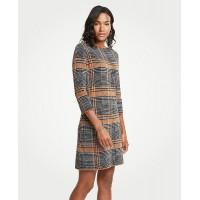 Plaid Sweater Shift Dress