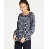 Chain Link Square Neck Blouse