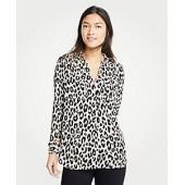 Leopard Print Camp Shirt