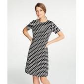 Textured Polka Dot Shift Dress
