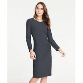Mixed Pinstripe Knit Sheath Dress