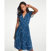 Geo Chiffon Wrap Dress