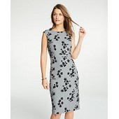 Floral Cap Sleeve Sheath Dress