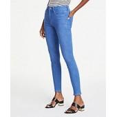 Performance Stretch Skinny Jeans in Bright Mid Indigo Wash