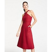 Halter Midi Flare Dress