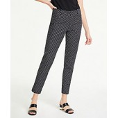 The Cotton Crop Pant in Ikat Dot