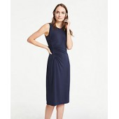 Side Ruched Sleeveless Sheath Dress