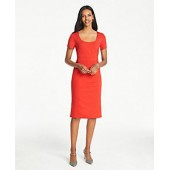 Seamed Waist Ponte Sheath Dress