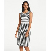 Striped Knit Sheath Dress