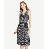 Ikat Belted Wrap Dress