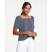 Polka Dot Square Neck Top