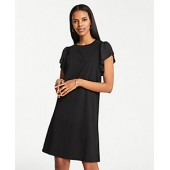 Smocked Knit T-Shirt Dress