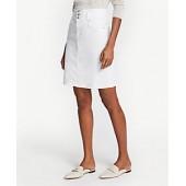 Three Button Denim Skirt