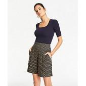 Polka Dot Pleated Shorts