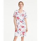 Floral Cluster T-Shirt Shift Dress