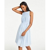Ruffle Pleated Shift Dress