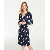 Floral Matte Jersey Wrap Dress