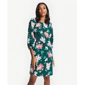 Floral Lantern Sleeve Shift Dress
