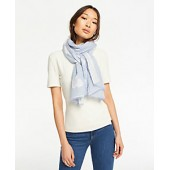 Clip Chambray Scarf