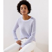 Cable Knit Trim Stitchy Sweater