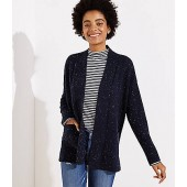 Speckled Open Pocket Cardigan