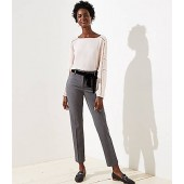 Slim Velvet Tie Waist Pencil Pants in Marisa Fit
