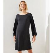 Maternity Twist Cuff Swing Dress