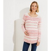 Maternity Rose Stripe Sweater