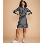 Lou & Grey Brushstripe Hoodie Dress