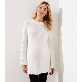 Maternity Abstract Fringe Sweater