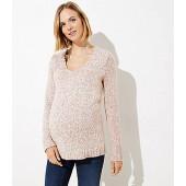 Maternity Marled V-Neck Sweater