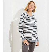 Maternity Striped Ribbed Sweater