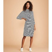 Lou & Grey Striped Turtleneck Signaturesoft Dolman Dress