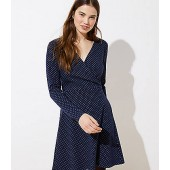 Geo Jacquard Knit Wrap Dress