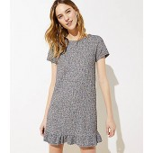 Boucle Ruffle Shift Dress