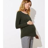 Maternity Long Sleeve Shirttail Tee