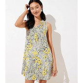Garden Tie Neck Swing Dress