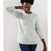 Pearlized Crystal Sweater