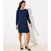 Maternity Covered Button Cuff Flare Dress