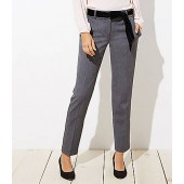 Slim Velvet Tie Waist Pencil Pants in Julie Fit