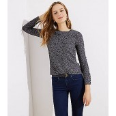 Marled Button Cuff Sweater