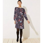 Nouveau Garden Cuffed Shirtdress