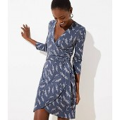 Leafy Wrap Dress