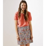 Paisley Jacquard Shift Skirt