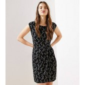 Floral Side Shirred Dress