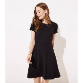 Ponte Flare Pocket Dress