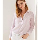 Collared Split Neck Shirt