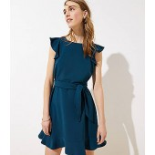 Flutter Tie Waist Dress