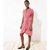 Geo Draped Wrap Dress