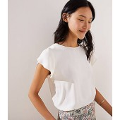 Tulip Sleeve Button Back Top